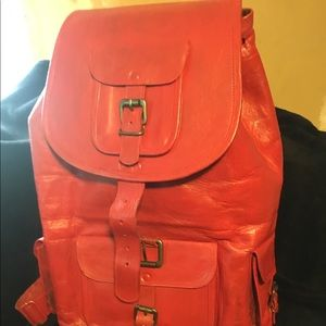 New Genuine Leather Rucksack 40L